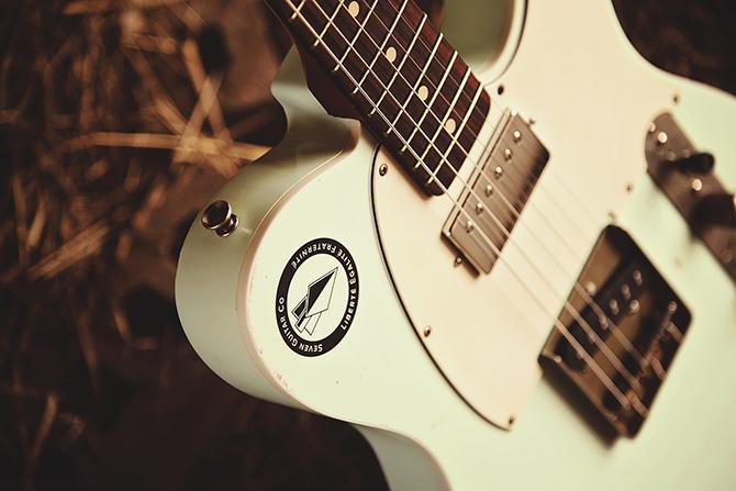 Seven Guitar Co. - Seal on Guitar