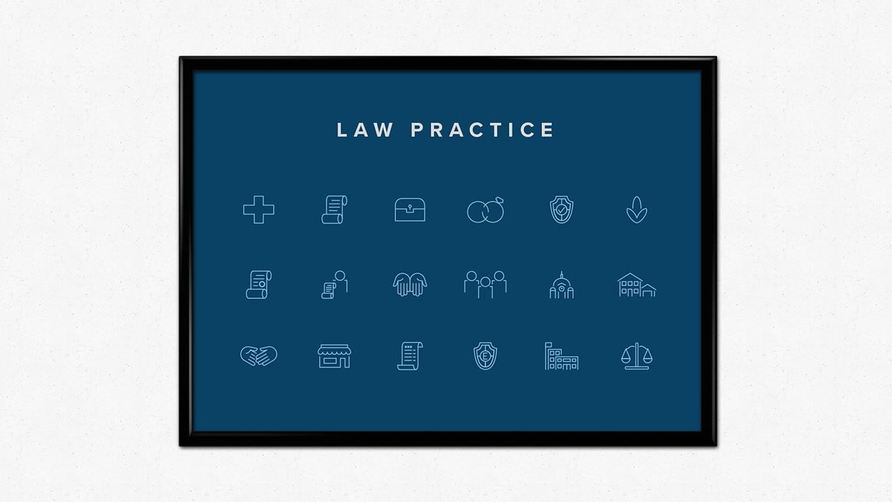 Law Practice Icons