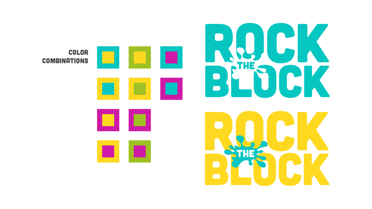 Rock the Block - Marks and Color Combinations